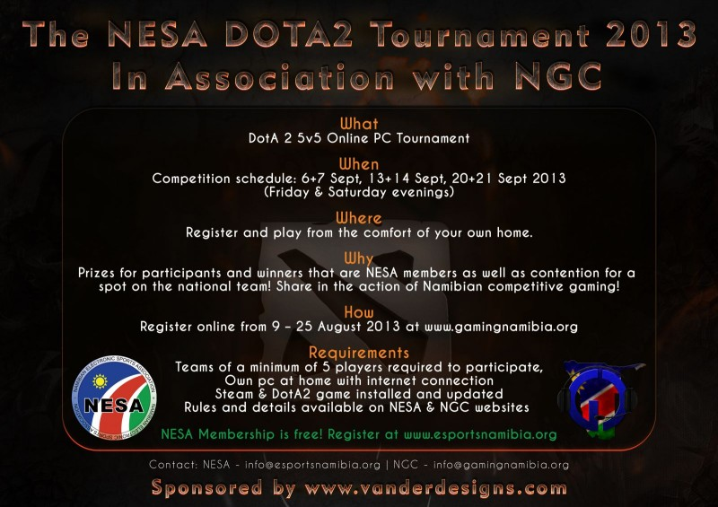 The NESA DotA2 Tournament Advert(1)